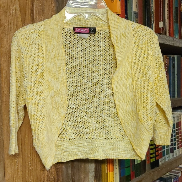 Say What? Other - SayWhat? USA Cropped Cardigan size small